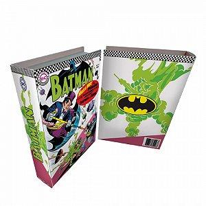 Caixa livro madeira dc batman colorido