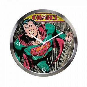 Relogio De Parede Metal Dc Superman Verde Comics Colorido