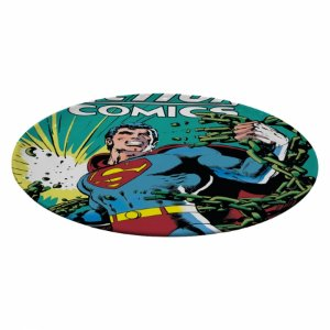 Prato Giratorio Melamine Dc Superman With Green Currents