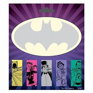 Set bloco de notas com adesivo dco batman personagens 14,5