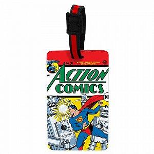 Etiqueta p mala vinil action comics superman dc colorido 10