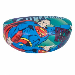 Caixa p oculos pu dco superman flying azul 16,5 x 6,9 x 8 c