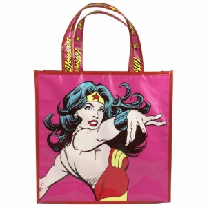 Sacola pp dc wonder woman power rosa 40 x 40 x 15 cm