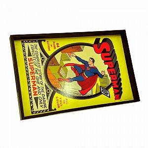 Bandeja madeira superman dco colorido 45 x 29 x 3,5 cm