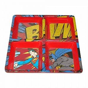 Petisqueira Melamine Dc Batman e Superman