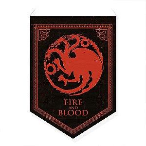 Bandeirola Casas Westeros Dragão