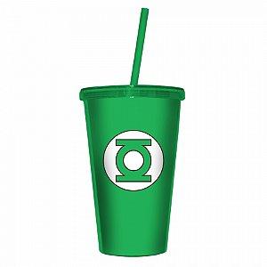 Copo Plastico Com Tampa E Canudo Dc Lanterna Verde