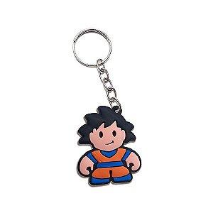 Chaveiro emborrachado cute Goku