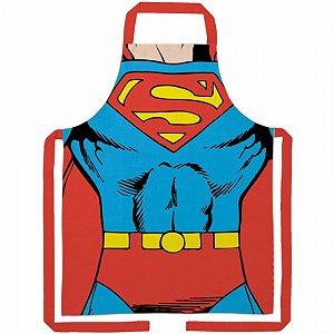 Avental algodao dc superman vermelho 70 x 80 cm