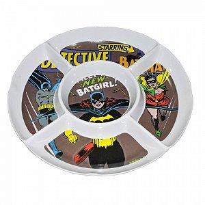 Petisqueira Melamine Redonda DC Batgirl Marrom