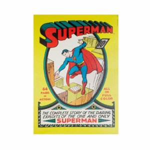 Quadro Tela Superman DC Amarelo 50x70