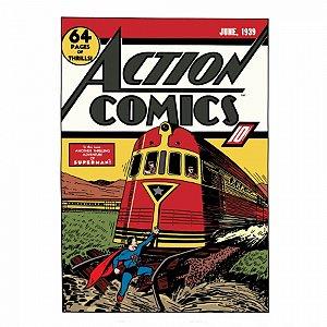 Quadro Tela Superman trem colorido 50x70