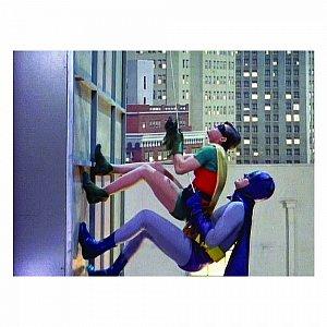 Quadro Tela movie batman e robin climbing 50x70