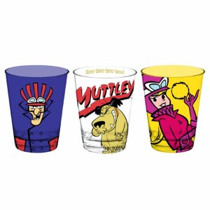 Set 3 Pcs Copo Vidro Caldereta Wacky Races 300ml