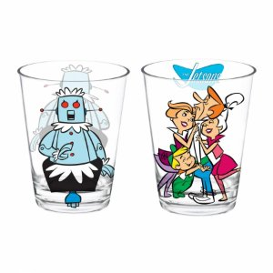 Set 2 Pcs Copo Vidro Caldereta Jetsons family 300ml