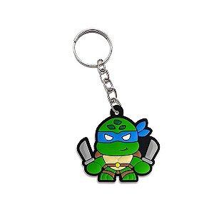 Chaveiro emborrachado Cute Ninja Leonardo