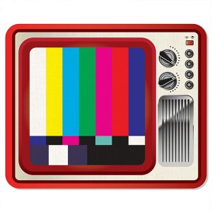 Mousepad TV Retro