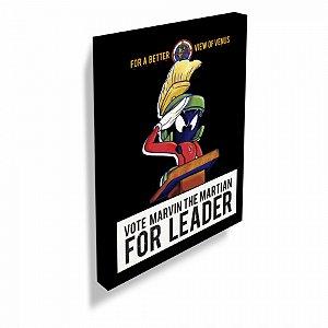 Quadro tela looney marvin vote for leader