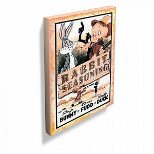 Quadro tela looney rabbit seasoning movie poster