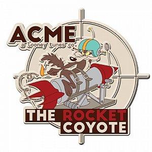 Placa parede recortada looney acme the rocket coyote