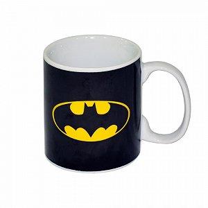 Caneca porcelana new dc logo batman preto