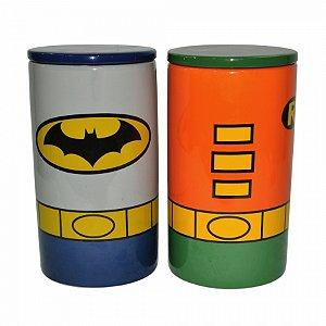 Set com2 potes dc batman and robin