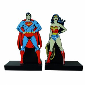 Aparador livro dco superman and wonder woman