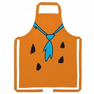 Avental algodao flinstones Fred body laranja