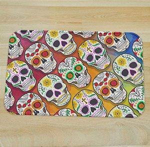 Tapete Fofo Skull Caveira Mexicana