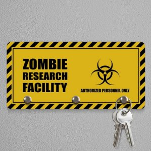 Porta Chaves Gamer Zombie Research Facility