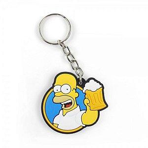 Chaveiro emborrachado Cute Homer Beer