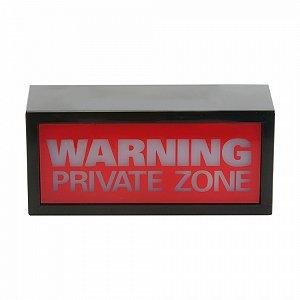 Luminaria de Warning Private Zone