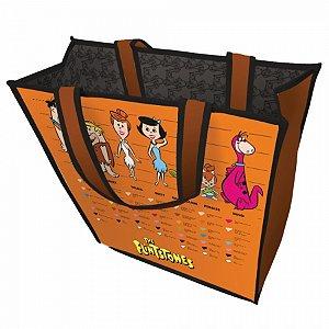 Sacola PP Os Flintstones Família Laranja 40x15x40 cm