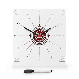 Relógio de Parede Vira Tempo com Planner