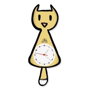 Relógio de Parede Pêndulo Gato