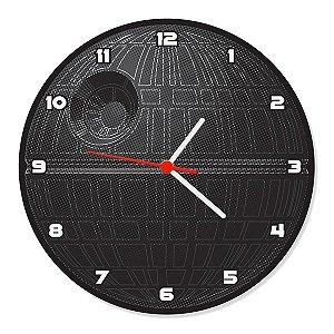 Relógio de Parede Estrela da Morte Star Wars