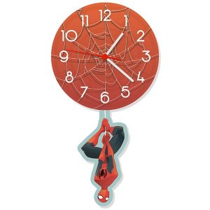 Relógio de Parede com Pêndulo Homem Aranha