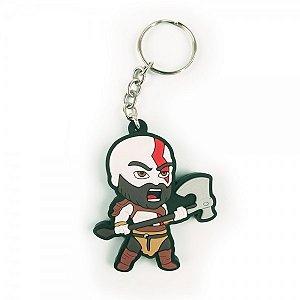 Chaveiro emborrachado Kratos II God of War