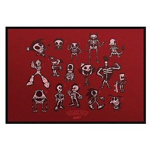 Jogo Americano Esqueleto Personagens