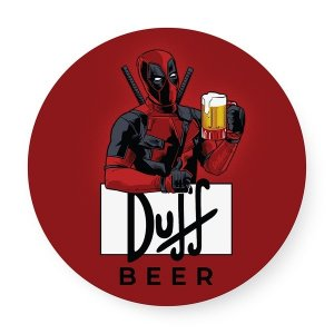 Bandeja giratória madeira Deadpool Duff Beer