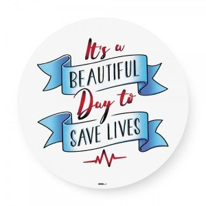 Bandeja giratória madeira Save Lives Greys Anatomy