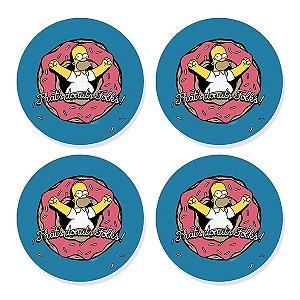 Porta Copos Simpsons Homer Donuts