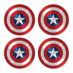 Porta Copos Super Escudo Capitão América Marvel