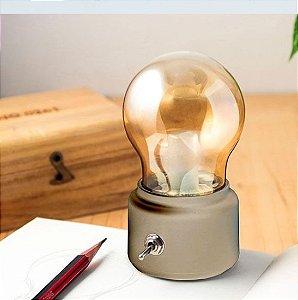 Luminária sem fio Lâmpada Gold - Dourada