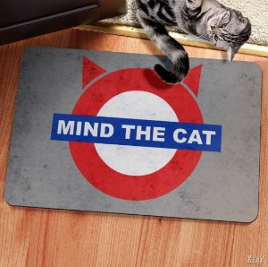 Capacho Eco Slim 3mm Mind The Cat 60x40cm