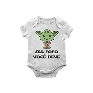 Body Bebê Star Wars Yoda fofo
