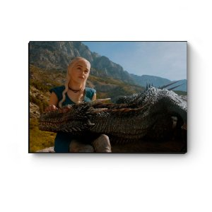 Quadro decorativo GOT Daenerys e Drogon II