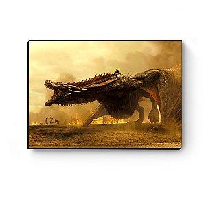 Quadro decorativo GOT Daenerys e Drogon