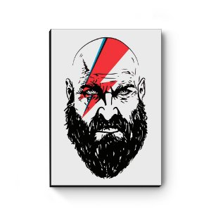 Quadro decorativo MDF God Of War Cross Bowie