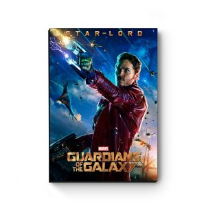 Quadro decorativo MDF Guardiões da Galaxia Star Lord